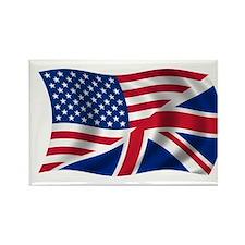 UK US Flag Rectangle Magnet