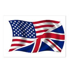 UK US Flag Postcards (Package of 8)