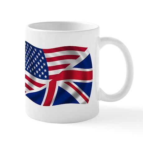UK US Flag Mug