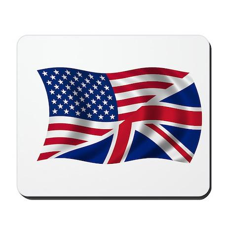 UK US Flag Mousepad