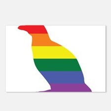 Gay Penguin Rainbow Postcards (Package of 8)