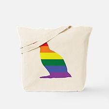 Gay Penguin Rainbow Tote Bag