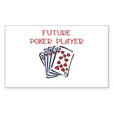 Future Poker Player Rectangle Decal