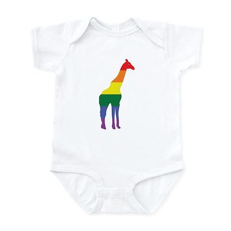 Gay Giraffe Rainbow Infant Bodysuit