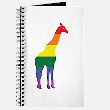 Gay Giraffe Rainbow Journal