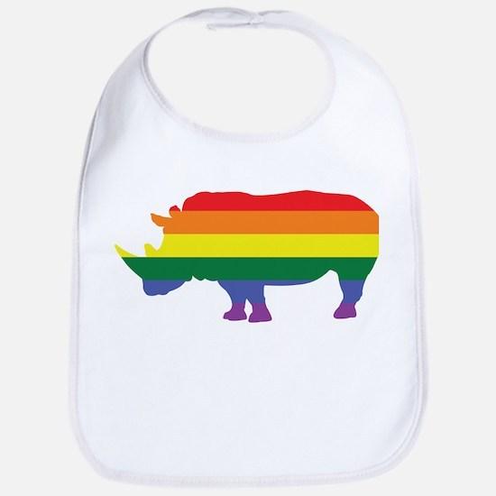 Gay Rhino Rainbow Bib