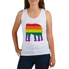 Gay Elephant Rainbow Women's Tank Top