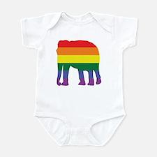 Gay Elephant Rainbow Infant Bodysuit