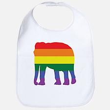 Gay Elephant Rainbow Bib