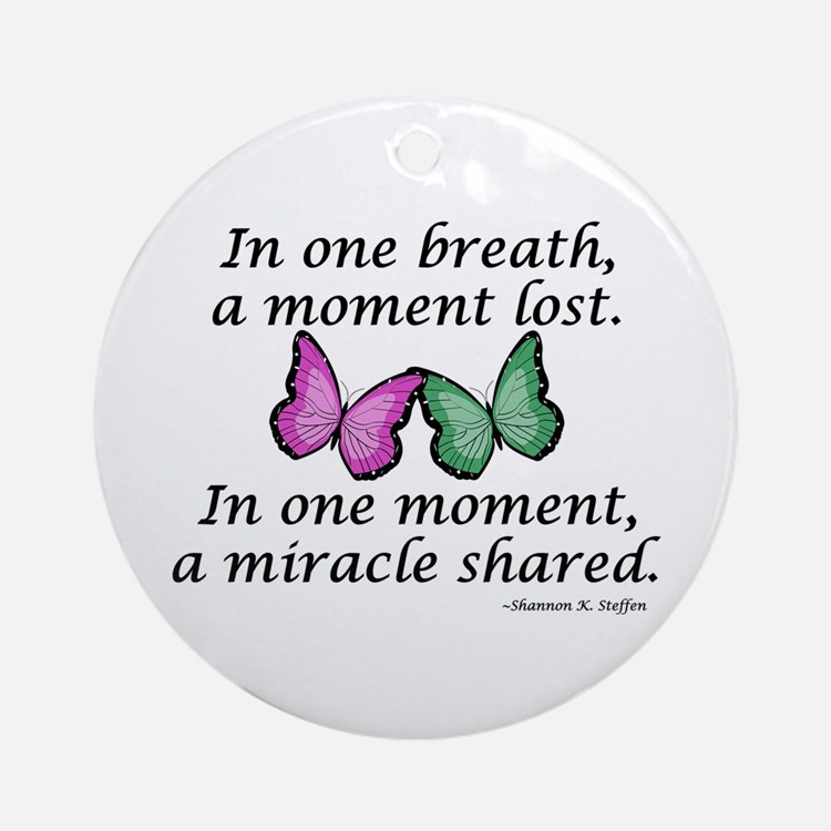 Moment's Miracle Ornament (Round)