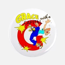 """GRACE WITH A CAPITAL """"G"""" 3.5"""" Butto"""