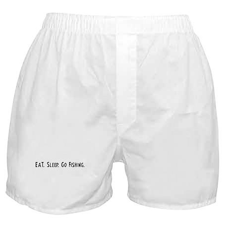 Eat, Sleep, Go Fishing Boxer Shorts