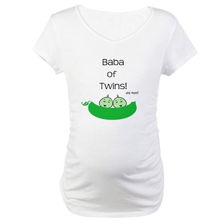 Baba of Twins and more! Maternity T-Shirt
