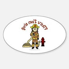 Personalized Firefighter Oval Stickers