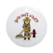 Personalized Firefighter Ornament (Round)