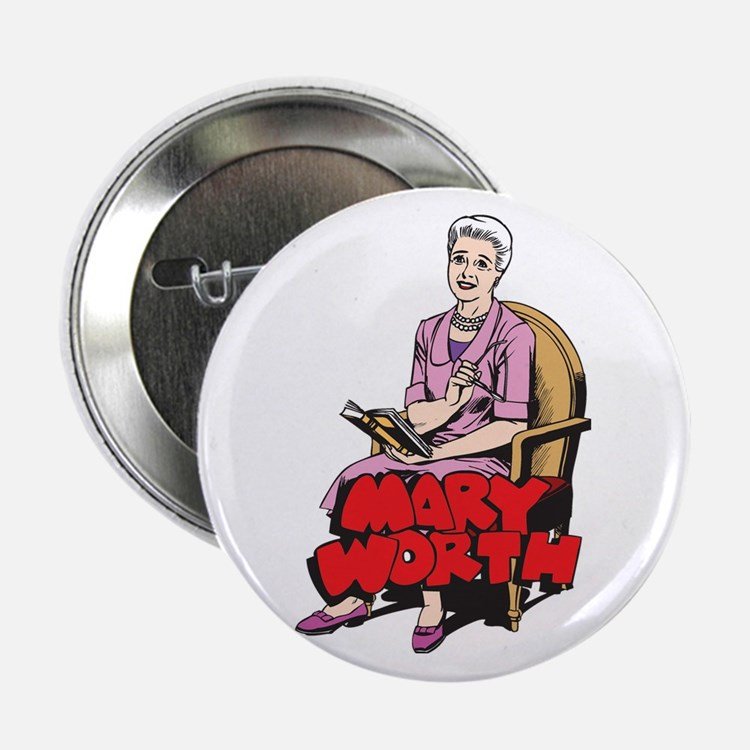 """Mary Reading 2.25"""" Button"""