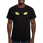Halloween Cat's Eye Men's Fitted T-Shirt (dark)