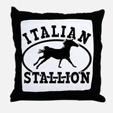 ltalian Stallion Throw Pillow