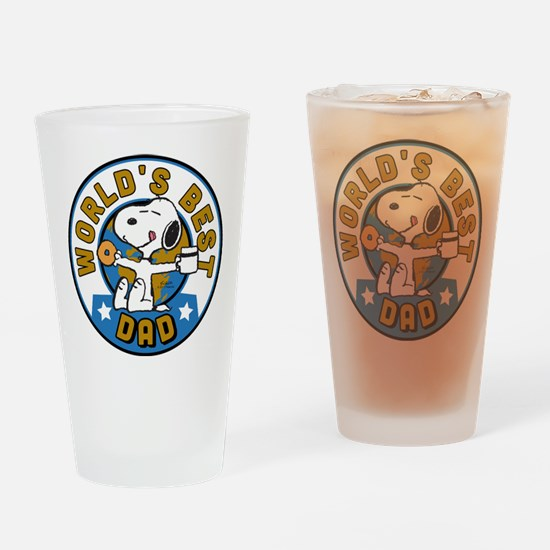 Peanuts Greatest Dad Drinking Glass