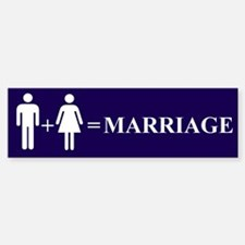 Support Marriage Bumper Bumper Bumper Sticker