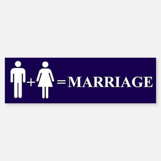 Support Marriage Bumper Bumper Bumper Sticker