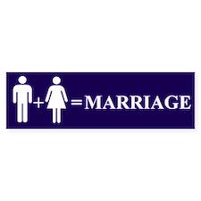 Support Marriage Bumper Bumper Sticker