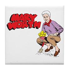 Mary Gardening Tile Coaster