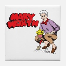 Mary Gardening Tile Coaster