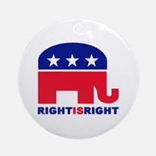 Right is Right Ornament (Round)