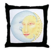 Night & Day on white Throw Pillow