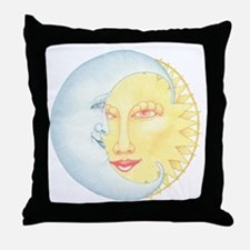 Night & Day on white Throw Pillow