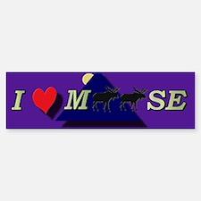 I heart Moose Bumper Bumper Bumper Sticker