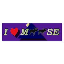 I heart Moose Bumper Bumper Sticker