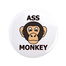 "ASS MONKEY 3.5"" Button"