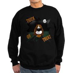 Basset Devil Halloween Sweatshirt (dark)
