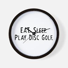 Eat, Sleep, Play Disc Golf Wall Clock