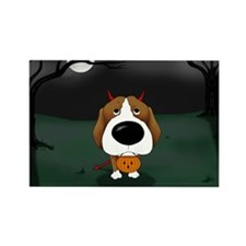 Beagle Devil Halloween Rectangle Magnet