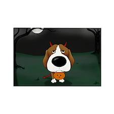 Beagle Devil Halloween Rectangle Magnet (100 pack)