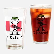 Stick Figure Drinking Glass