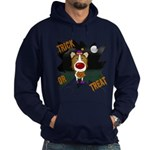 Collie Clown Halloween Hoodie (dark)