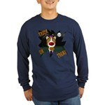 Collie Clown Halloween Long Sleeve Dark T-Shirt