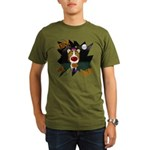 Collie Clown Halloween Organic Men's T-Shirt (dark