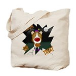 Collie Clown Halloween Tote Bag