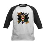 Collie Clown Halloween Kids Baseball Jersey