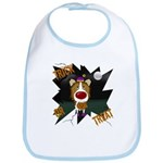 Collie Clown Halloween Bib