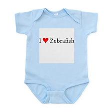 I Love Zebrafish Infant Creeper