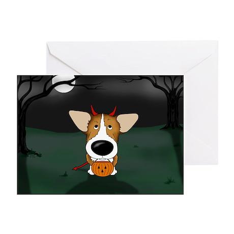Corgi Devil Halloween Greeting Cards (Pk of 20)