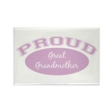 Proud Great Grandmother Rectangle Magnet