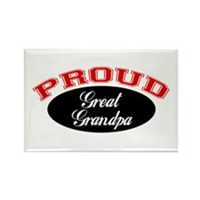 Proud Great Grandpa Rectangle Magnet