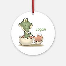 Logan - Baby Alligator Ornament (Round)